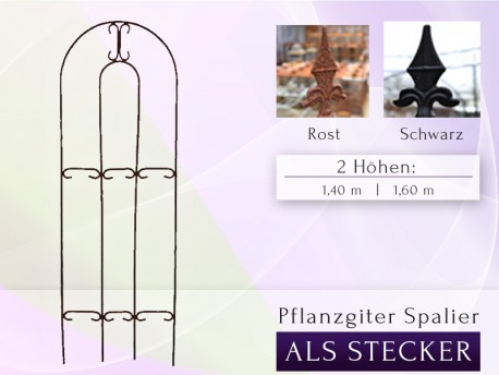 Pflanzgitter / Spalier  / Rankgitter Höhe: 1,40 m oder 1,60 m