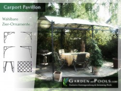 Massiver Carport- Pavillon