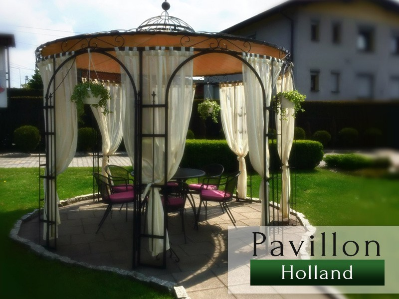 massiver rund pavillon metallpavillion metalllaube gartenpavillon gartengestaltung. Black Bedroom Furniture Sets. Home Design Ideas