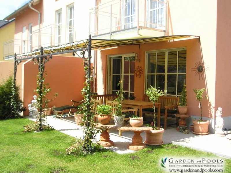 terassen berdachung pergola markise garden and pools. Black Bedroom Furniture Sets. Home Design Ideas