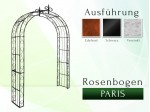 Rosenbogen Pergola Metallrosenbogen Gartenbogen Rosensäule Paris Lilie B 2,20 m