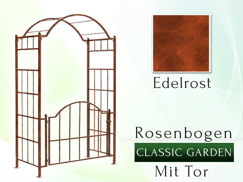rosenbogen classic garden mit tor garden and pools. Black Bedroom Furniture Sets. Home Design Ideas