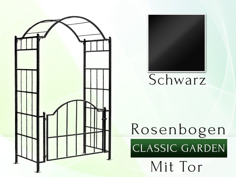 rosenbogen classic garden mit tor rosenbogen pergola mit to. Black Bedroom Furniture Sets. Home Design Ideas