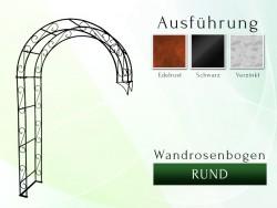 Wandrosenbogen Rund 1,80 m Pergola Metallrosenbogen Gartenbogen Rosensäule