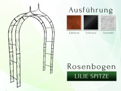 Rosenbogen mit Lilie-Spitze 1,60 m