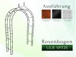 Rosenbogen Pergola Metallrosenbogen Gartenbogen Rosensäule mit Lilie-Spitze 1,60 m