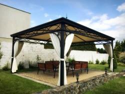 Pavillon Gartenlaube Metallpavillon 4 x 5 m und nach Mass - ABU DHABI