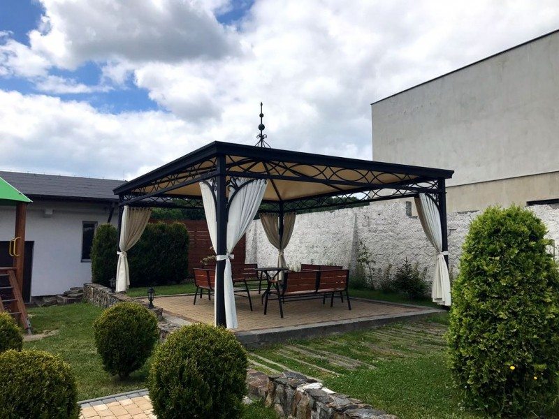 pavillon gartenlaube metallpavillon gazebo abu dhabi 4x5 m und nach mass garden and pools. Black Bedroom Furniture Sets. Home Design Ideas