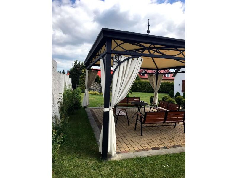 pavillon gartenlaube metallpavillon gazebo abu dhabi 4x5 m. Black Bedroom Furniture Sets. Home Design Ideas