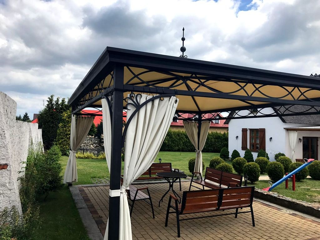 pavillon gartenlaube metallpavillon gazebo abu dhabi 4x5 m und nach. Black Bedroom Furniture Sets. Home Design Ideas