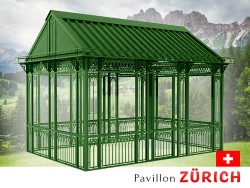 Pavillon Gartenlaube Metallpavillon Gazebo Eisenpavillon 5,80 x 4,20 m