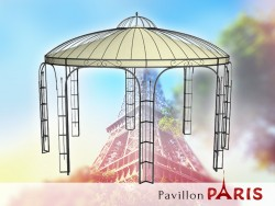 Pavillon Metall Rund Gartenlaube PARIS