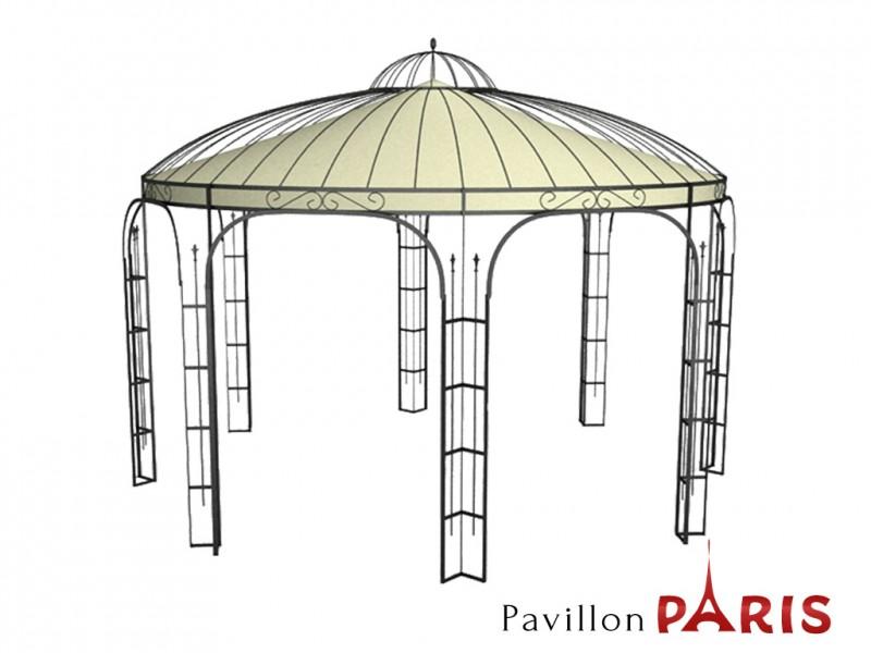 pavillon metall rund gartenlaube paris ausgefallen sch ner modern. Black Bedroom Furniture Sets. Home Design Ideas