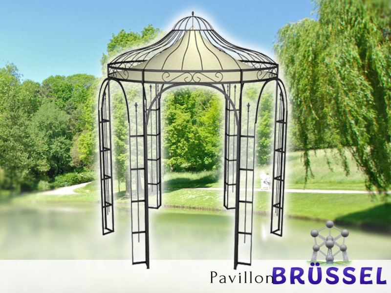 pavillon metall rund gartenlaube br ssel ausgefallen. Black Bedroom Furniture Sets. Home Design Ideas