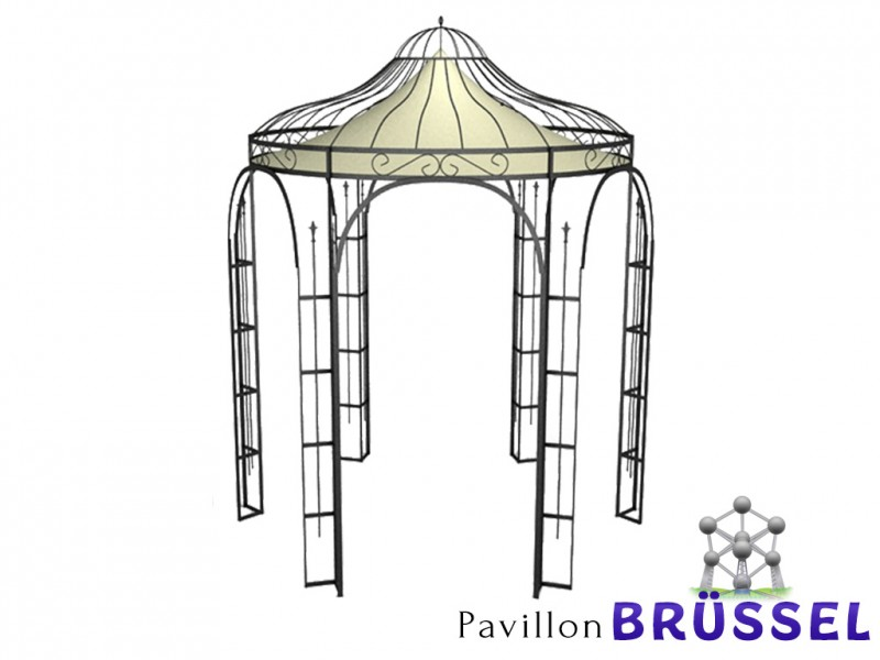 metall pavillon rund xxl pavillon riccio pergola laube. Black Bedroom Furniture Sets. Home Design Ideas