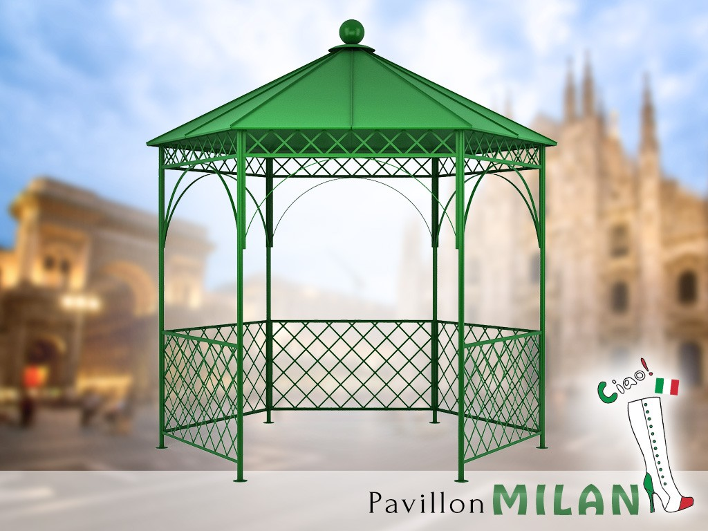 pavillon metall gartenlaube gazebo milan ausgefallen. Black Bedroom Furniture Sets. Home Design Ideas