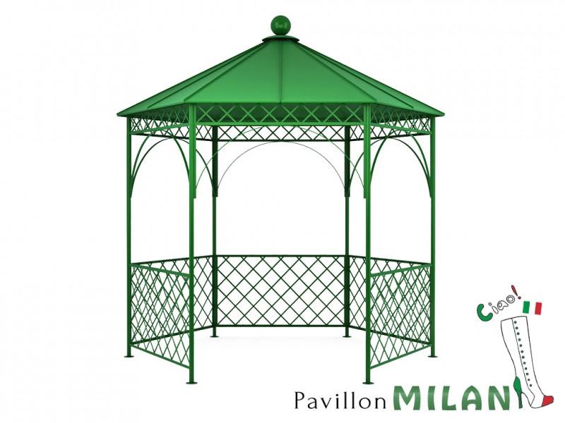 Pavillon metall gartenlaube gazebo milan ausgefallen for Gartendeko ausgefallen