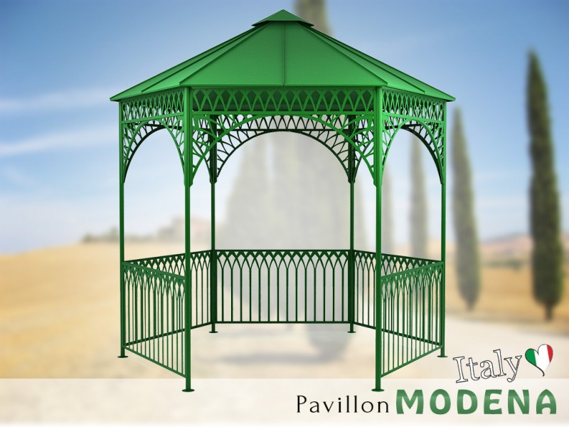 pavillon metall gartenlaube gazebo modena ausgefallen sch ner mod. Black Bedroom Furniture Sets. Home Design Ideas