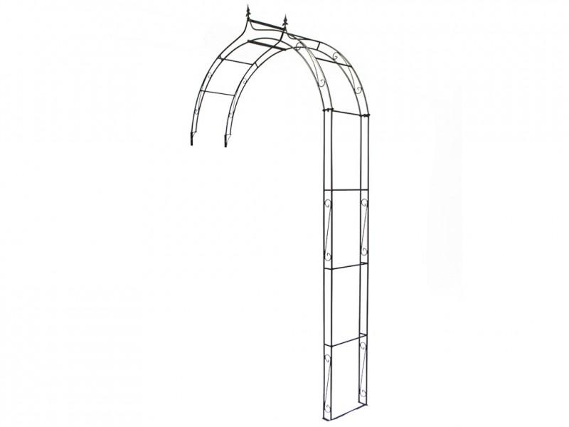 wand rosenbogen pergola metallrosenbogen gartenbogen rosens ule inn. Black Bedroom Furniture Sets. Home Design Ideas