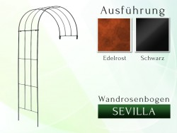 Wand-Rosenbogen Pergola Metallrosenbogen Gartenbogen Rosensäule Sevilla