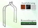 Rosenbogen AMSTERDAM Pergola Metallrosenbogen Gartenbogen Rosensäule
