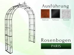 Rosenbogen Pergola Metallrosenbogen Gartenbogen Rosensäule Paris Lilie B 1,20 m