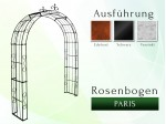 Rosenbogen Pergola Metallrosenbogen Gartenbogen Rosensäule Paris Lilie B 1,40 m