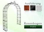 Rosenbogen Pergola Metallrosenbogen Gartenbogen Rosensäule Paris Lilie B 1,80 m