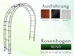 Rosenbogen Pergola Metallrosenbogen Gartenbogen Rosensäule RUND 2,40 m