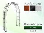 Rosenbogen Paris Rund B 2,40 m Pergola Metallrosenbogen Gartenbogen Rosensäule