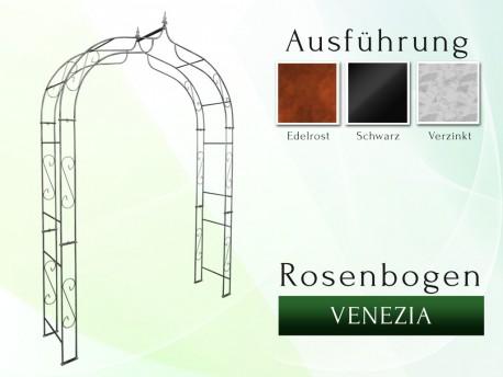 Rosenbogen Pergola Metallrosenbogen Gartenbogen Rosensäule VENEZIA mit Spitze 1,20 m