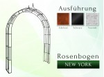 Rosenbogen New York B 2,00 m Pergola Metallrosenbogen Gartenbogen Rosensäule