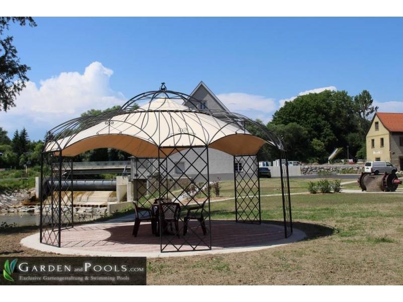 romantiker pavillon rund metallpavillon gartenlaube laube. Black Bedroom Furniture Sets. Home Design Ideas