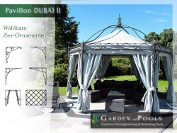 Massiver 6-eckiger 4,5 m x 4,5 m Pavillon Casablanca