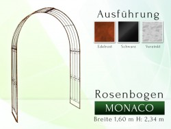 Rosenbogen Pergola Metallrosenbogen Gartenbogen Rosensäule MONACO