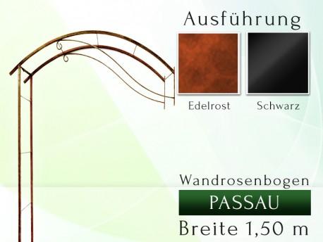 Wandrosenbogen PASSAU Massiv Wandrosenbogen für deinen Garten, erhältlich in drei Varianten: Schwarz, Verzinkt oder Rost. E...