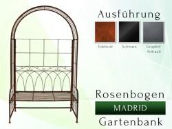 Rosenbogen Gartenbank MADRID