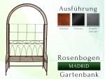 Rosenbogen Pergola Metallrosenbogen Gartenbogen Rosensäule Gartenbank MADRID