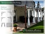 Terassenüberdachung 3 x 3 m Pergola Laube Markise Überdachung Gazebo