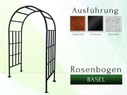 Rosenbogen Basel Eisen Massiv Rosenbogen für deinen Garten, erhältlich in drei Varianten: Rost, Verzinkt oder Schwarz