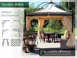"Massiver Pavillon ""DUBAI"" 3x3m"