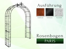 Rosenbogen Paris Lilie B 2,20 m gartenbogen, rosenaule, rosenbogen eisen, rosenbogen verzinkt, rosenbogen schwarz, rosenbog...