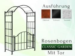 "Rosenbogen ""Classic - Garden"" mit Tor"