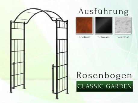 """Rosenbogen """"Classic - Garden"""" Eisen Massiv Rosenbogen für deinen Garten, erhältlich in drei Varianten: Rost, Verzinkt oder ..."""