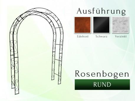 Rosenbogen HOLLAND Rund B 1,40 m Eisen Massiv Rosenbogen für deinen Garten, erhältlich in drei Varianten: Rost, Verzinkt od...