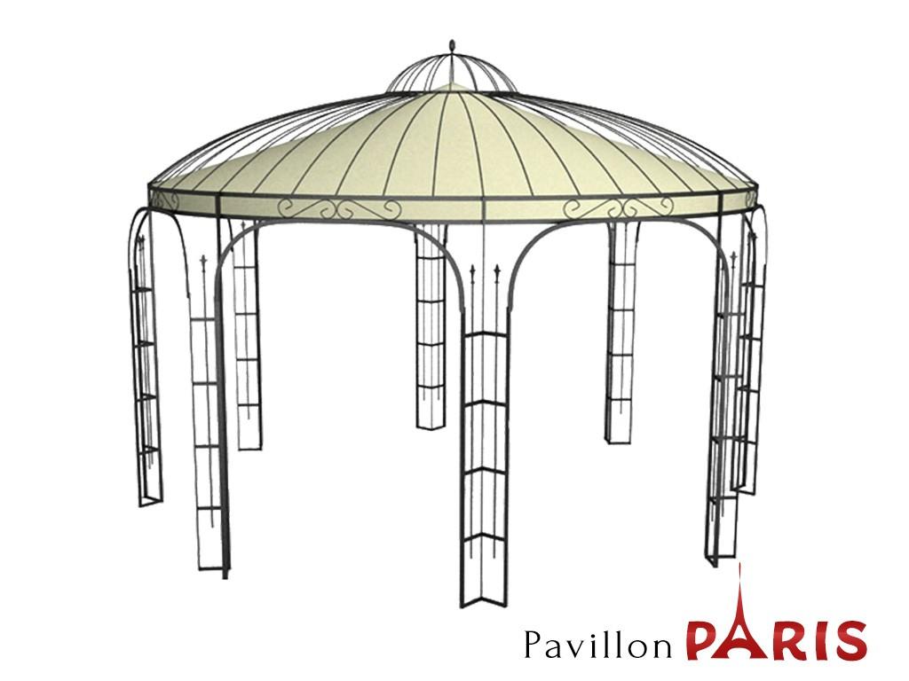 Pavillon Metall Rund Gartenlaube PARIS Ausgefallen schöner ...