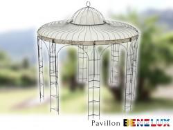 Pavillon Metall Rund Gartenlaube Benelux