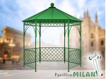 Pavillon Metall Gartenlaube Gazebo MILAN