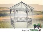 Pavillon Metall Gartenlaube Gazebo TURIN