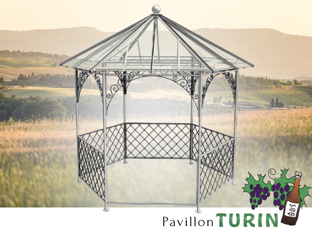 pavillon metall gartenlaube gazebo turin ausgefallen. Black Bedroom Furniture Sets. Home Design Ideas